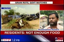 Odisha: People say foodgrains are being washed away by rains