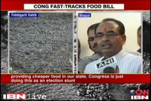 Food Bill a poll stunt, says Shivraj Singh Chouhan