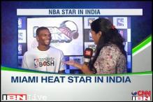 NBA star Chris Bosh in India to promote basketball