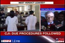 Will order probe if medical entrance exam verdict was leaked: CJI