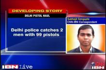 Delhi Police arrests two men with 99 pistols