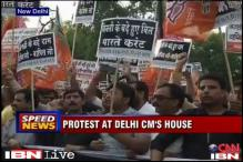 Delhi: BJP activists detained as they try to march to CM's residence
