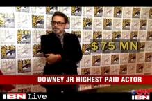 Robert Downey Junior named the highest paid actor in Hollywood