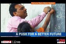 Shopkeeper enlightens young minds via a school organised under a metro bridge