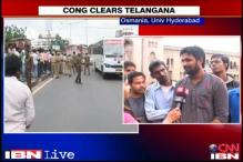 Osmania University students welcome Congress's Telangana announcement