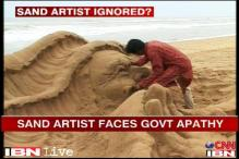 Globally recognised sand artist Sudarshan Patnaik ignored in his state