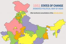 Changing states: An animated political map of the Republic of India