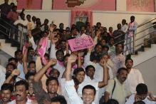 Telangana: Jubilation at Andhra Bhawan