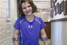 7-year-old Boston bomb survivor using prosthetic leg