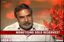 Using gold reserves was just a suggestion, clarifies Anand Sharma