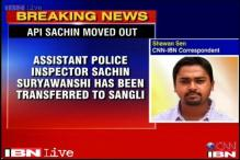 Maharashtra policeman who was allegedly assaulted by MLAs transferred