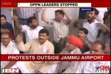 J&K: BJP workers protest against party leader Jaitley's detention