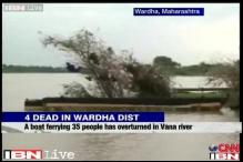 Maharashtra: Boat ferrying 35 people overturns, 4 dead, 3 missing