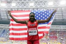 Reese wins 3rd women's long jump title at World Championships