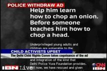 Delhi Police withdraws ad on training of street children after outrage