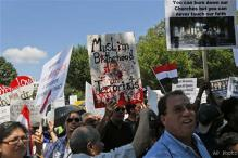 Egypt military supporters rally at White House