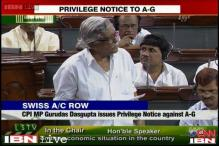 Gurudas Dasgupta moves privilege notice against A-G in Parliament