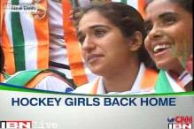 Buoyed with World Cup bronze, hockey girls return home