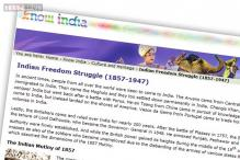 Listing the best online resources on the Indian independence movement