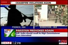J&K: Pakistan violates ceasefire for the third time in a day