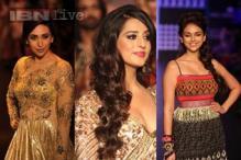 LFW 2013, Day 4: Karisma Kapoor, Mahie Gill, Aditi Rao Hydari walk the ramp