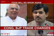 Food Security Bill debate disrupted by Congress, BJP shadow boxing