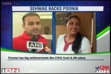 Sehwag backs Poonia over Khel Ratna controversy