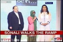 Acid attack survivor Sonali Mukherjee walks the ramp