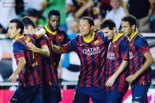 Rodriguez scores hat-trick as Barcelona thrash Rayo Vallecano 4-0