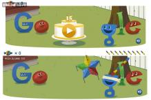 Google celebrates its 15th birthday with a playable pinata game doodle