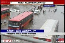 Gujarat floods: 40,000 people evacuated, Vishwamitri river  flows above danger mark