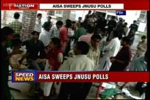 AISA sweeps JNU's student union polls, wins all 4 top positions