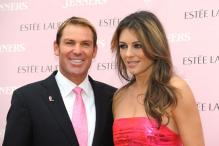 Elizabeth Hurley reunites with Shane Warne for family lunch