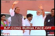 Modi's Bhopal rally marred by controversy over burqas, skull caps