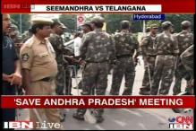 United AP supporters show strength; Telangana observes bandh