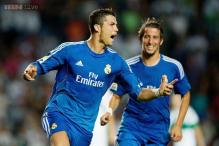 Cristiano Ronaldo scores twice as Real Madrid defeat Elche 2-1
