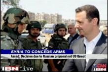Syria will give up control of chemical weapons, says Assad