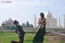 Snapshot: Who's this guy with Mallika Sherawat at Taj Mahal?