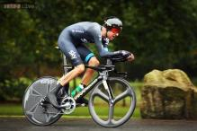 Bradley Wiggins roars into lead in Safari Park time trial