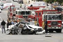 Woman driver shot dead in dramatic car chase at US Capitol