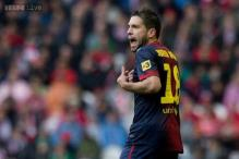 Injured Jordi Alba ruled out for six weeks
