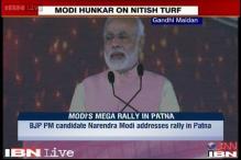 Nitish back stabbed JP, Lohia, betrayed Bihar: Modi at Hunkar rally