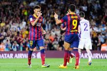 Sanchez scores twice as Barcelona defeat Real Valladolid 4-1