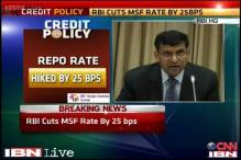 RBI hikes repo rate by 25 basis points, CRR unchanged