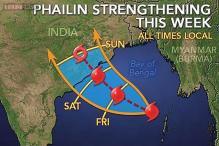 Sea turns rough ahead of cyclone Phailin landfall
