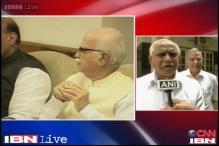 Yeddyurappa calls Advani, Rajnath for KJP, BJP alliance