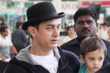 Attending to daddy duties? Aamir Khan spotted with son Azad