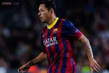 Barcelona's Adriano injured, to miss Ajax match