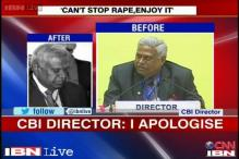 Under fire CBI chief Ranjit Sinha regrets his 'enjoy rape' comment