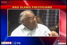 Rao lashes out at politicians, says they have done little for research